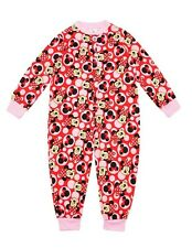 NEW Girls Disney Minnie Mouse Red & Pink Cotton Footless Onesie Sleepsuit 2-5yrs