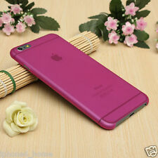 "Transparent Pink Matte Frosted Hard Cover Shell Case For iPhone 6/6s PLUS (5.5"")"