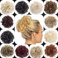 KOKO Curly Synthetic Hair Scrunchie For bun updo 20 Colour Choices Elasticated