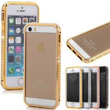 Bling Crystal Diamond Rhinestone Metal Bumper Case Cover For Apple IPhone 5 5S