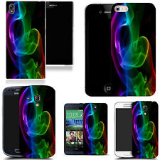 gel rubber case cover for majority Mobile phones - glow swirl silicone