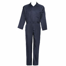 """Navy Blue BOILER SUIT OVERALL COVERALL Mechanic college work 40"""" - 50"""" MENS New"""