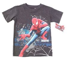 Marvel The Amazing Spider-Man Boy's Kids Graphic Grey T-Shirt Size 4 & 6 NWT