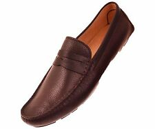 Asher Green Men's Brown Slip On Penny Loafer Driving Moccasin Style : Flager-065