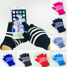 1 Pair New Unisex Winter Magic Touch Screen Knitted Gloves Smartphone Texting d4