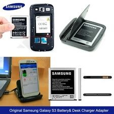 New OEM Original  Desktop Charger Adapter + Battery For Samsung Galaxy S3