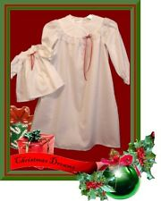"""MATCHING CHRISTMAS NIGHTGOWN & for American Girl 18"""" Doll Sz 6"""