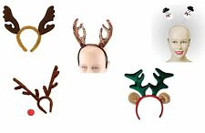 #RUDOLPH REINDEER ACCESSORIES CHRISTMAS XMAS NATIVITY ANTLERS FANCY DRESS