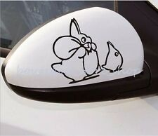 2pcs Cute Totoro cartoon Rearview mirror Random body car stickers wall Decals