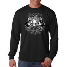 Live The Dream Rock & Roll Guitars Skull Music Lovers Long Sleeve T-Shirt Tee