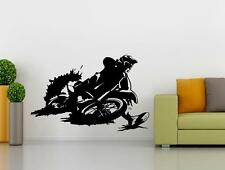 Dirt Bike Motorcycle Decal Graphic Removable WALL STICKER Home Decor Art ST113