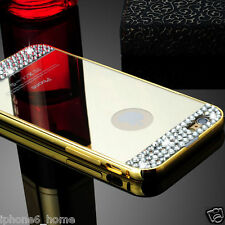 Luxury Diamond Bling Aluminium Bumper Gold Hard Case For iPhone 6/6s Plus 5.5""