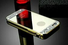 Diamond Crystal Gold Mirror Case Cover + Metal Bumper For Apple iPhone 6/6s