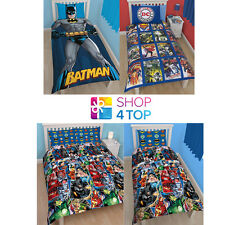 DC COMICS BATMAN JUSTICE LEAGUE SUPERHEROES BEDDING DUVET PILLOWCASE COVER SET