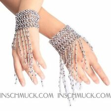 C118 a Pair Belly dance Pearls Bracelet Bangle Band Decoration
