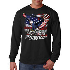 God Bless America Patriotic Eagle USA United States Freedom Long Sleeve T-Shirt