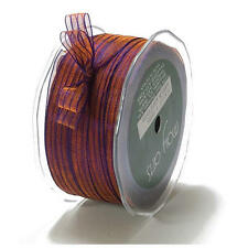 May Arts 10mm Sheer Iridescent Pinstripe Ribbon - 3m