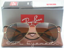 Ray Ban Aviator Classic Polarized Brown Gradient Gold Sunglasses RB3025 001/M2