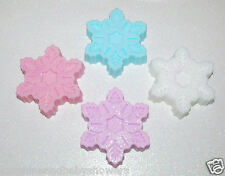 Christmas Novelty Soaps GLITTER SNOW FLAKE So Pretty! Great Stocking Filler