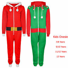 Ltd SALE Unisex Kids Boys Girls Elf Santa Christmas Onesie All in One 7-13 Years