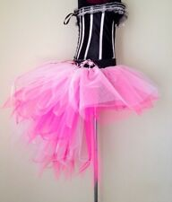 Burlesque PinK White Baby PinK Moulin Rouge Bustle TuTu Skirt sizes XS S M L