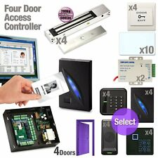 4 Door Access Controller Board RFID Network Set + Magnetic Lock