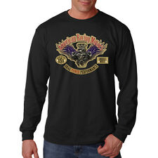 American Racing Motors Drag Power Performance Car Auto Long Sleeve T-Shirt Tee