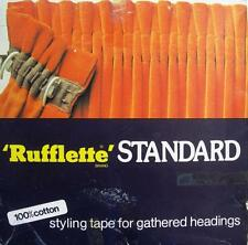 Curtain Header Tape 3 Metres of One Inch RUFFLETTE Tape Assorted Colours
