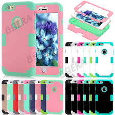 New Heavy Duty Rugged Hybrid Silicone Glossy Matte Case For iPhone 5S SE 5C 6 6S