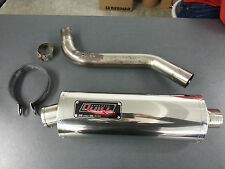 QUILL SLIP ON EXHAUST STAINLESS STEEL OVAL, TRIUMPH TIGER 1050 2007 ONWARDS