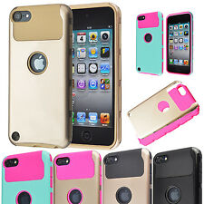 Hybrid Shockproof Dual Layer Slim Rubber Hard Case Cover for iPod Touch 6 5 Gen