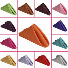 "200 Packs 20"" x 20"" Polyester Napkins Wedding Party Catering 24 COLORS USA SALE"