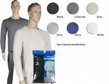 new 2Pc MEN 100% COTTON THERMAL UNDERWEAR LONG JOHN TOP BOTTOM GIFT SET PLUS 3XL