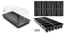 "(1) 7"" Humidity Dome + (1) Tray + (1) 36 Cell Insert, Seed Starter Germinate"