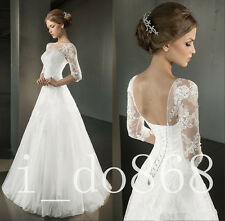 2016 Spring A Line Wedding Dresses Half Sleeve Open Back Corset Bridal Gowns