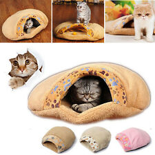 Pet Cat Kitten Cave Warm Winter Bed Puppy Sleeping Mat Pad Igloo Nest House M/L