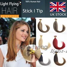 22'' Straight 6A Pre Bonded Stick/I Tip Remy Human Hair Extensions 1g/s
