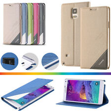 New For Samsung Galaxy/iPhone Leather Wallet Card Holder Flip Stand Case Cover