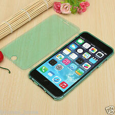 Transparent Green Soft Silicone Gel Flip Case Cover For iPhone 6/6s & 6/6s Plus