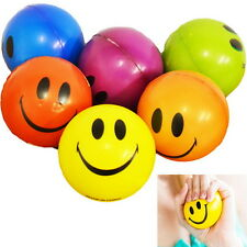 Happy Smile Face Anti Stress Relief Sponge Foam Ball  Wrist Squeeze Exercise N