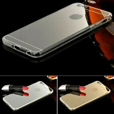 Gold Silver & Grey Mirror Make-Up Soft Jelly Case Cover For Apple iPhone 6/6s