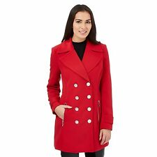 Star By Julien Macdonald Womens Bright Red Crepe Coat From Debenhams