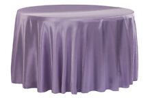 "10 PACKS 90"" inch Round SATIN Tablecloth WEDDING 25 COLORS table cover USA SALE"