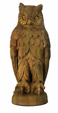 Owl Outdoor Garden Statue by Orlandi Statuary - Faux Concrete-FS9368