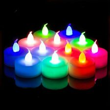 2-20pcs Flickering Flicker Change Color Flameless LED Tealight Tea Candles Light