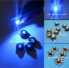 1 5 10 50 100pcs 3W Blue 460-465nm High Power Led Light Bead Chip for DIY
