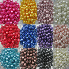 Hot Sales !Wholesale Lot Glass Pearl Round Spacer Loose charms Beads 4mm - 8mm