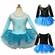 Toddler Girls Leotard Ballet Dress Sequin Snow Clothes 2-8Y Princess Skirt Tutu