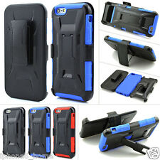 Heavy Duty Tough Armor Shockproof Case Cover + Belt Clip For Apple iPhone 6/6s