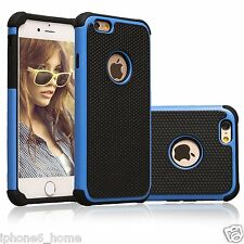 """Heavy Duty Tough Armor Dual Layer Blue Case Cover For iPhone 6/6s PLUS (5.5"""")"""